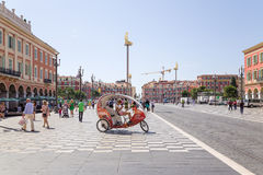France. Place Massena in Nice Stock Photo
