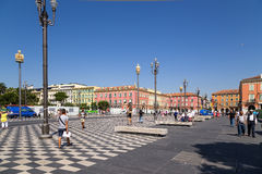 France. Place Massena in Nice Stock Image