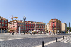 France. Place Massena in Nice Royalty Free Stock Photography