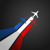 France plane vector. Vector illustration of a plane with the flag of France Royalty Free Stock Photography
