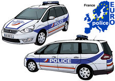 France Police Car. Colored Illustration from Series Europol, Vector Stock Image
