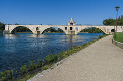 France, Pont Saint-Benezet in Avignon Stock Photo