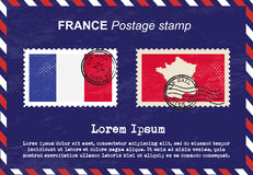 France postage stamp, vintage stamp, air mail envelope. Royalty Free Stock Photography