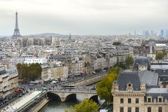 france powietrzny widok Paris fotografia royalty free