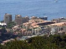 France, Principality of Monaco, Montecarlo city anad sea. royalty free stock photos