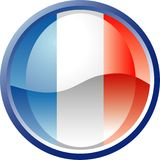 France przycisk ilustracja wektor