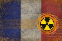 France radioactive threat. Radiation hazard concept. Stock Photography