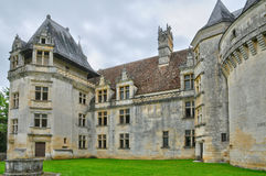 France, renaissance castle of Puyguilhem in Dordogne Royalty Free Stock Photography
