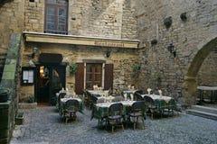 france restaurang Arkivbild