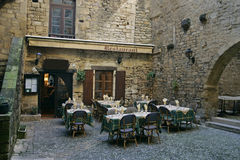 France restaurant. In old city Stock Photography