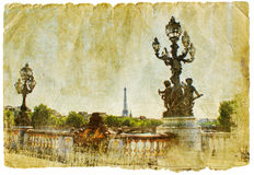 France - retro style picture. France - great landmarks - retro styled photo Stock Photos
