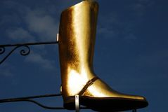 France- Riding Boot Advertising Sculpture royalty free stock images