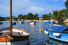 France Riviera, boat Stock Photography
