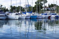 France Riviera, boat Stock Image