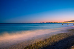 France riviera. In the night. Nice, France Stock Image