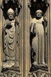 France Rouen: the gothic cathedral of Rouen. The Norman cathedral contain the tomb of Richard the Lion heart. Detail of the facade Royalty Free Stock Photography
