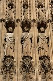 France Rouen: the gothic cathedral of Rouen. The Norman cathedral contains the tomb of Richard the Lion heart. Detail of the facade Royalty Free Stock Image