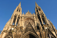 France Rouen: the gothic cathedral of Rouen. France Rouen: Cathedral of Rouen.The Norman cathedral contains the tomb of Richard the Lion heart. Detail of the Royalty Free Stock Images