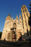 France Rouen: the gothic cathedral of Rouen. The Norman cathedral contains the tomb of Richard the Lion heart. View of the facade Stock Photography
