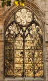 France Rouen: the gothic cathedral of Rouen. The Norman cathedral contains the tomb of Richard the Lion heart. Detail of the facade Royalty Free Stock Images