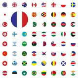 France round flag icon. Round World Flags Vector illustration Icons Set. France round flag icon. Round World Flags Vector illustration Icons Set Royalty Free Stock Photo