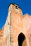 France Roussillon Bell Tower. The bell tower of the village of Roussillon is painted in brown. The brown rocks around the village provide the color for the paint Royalty Free Stock Photo