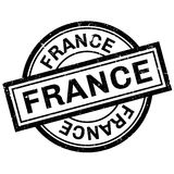 France rubber stamp Stock Image