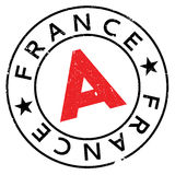 France rubber stamp Royalty Free Stock Image