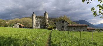 France: the ruins of a medieval castle Stock Photography