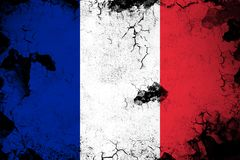 France rusty and grunge flag illustration stock illustration