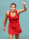France's Amelie Mauresmo at Open GDF SUEZ 2009 stock photo