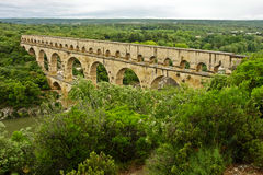 France's Ancient Pont du Gard Stock Photography