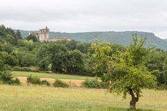 France's Château de Beynac Stock Photography