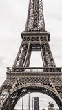 France's Eiffel Tower. The rectangular shape below the tower looks like a doorway into the unknown Royalty Free Stock Image