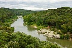 France's Gardon River Stock Images