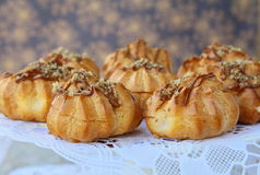 France's pastry eclairs profiteroles Stock Photography