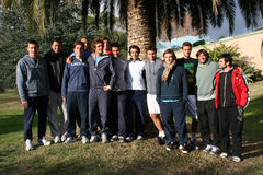 France's tennis team attends a practice session Royalty Free Stock Images