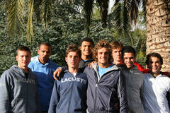 France's tennis team attends a practice session Stock Photos