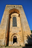 France, Saint Amand de Coly church in Dordogne Royalty Free Stock Photography