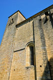 France, Saint Amand de Coly church in Dordogne Royalty Free Stock Photos
