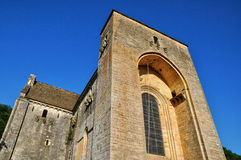 France, Saint Amand de Coly church in Dordogne Royalty Free Stock Image