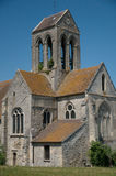 France, the Saint Germain church of Cléry en Vexin Stock Image