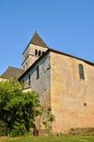 France, Saint Leon sur Vezere church in Perigord stock image
