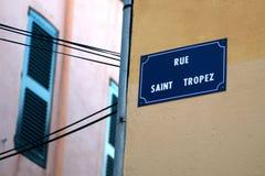 France - Saint Tropez. Saint Tropez in France, Europe street stock photo