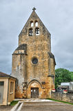 France, Saint Vincent le Paluel church in Perigord Royalty Free Stock Image