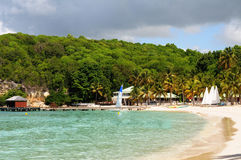 France, Sainte Anne in Guadeloupe Royalty Free Stock Images