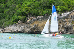 France, Sainte Anne in Guadeloupe Stock Image