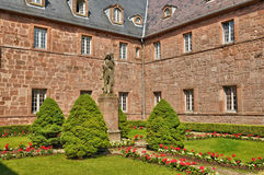 France, Sainte Odile monastery in Ottrott in Alsace Stock Photography
