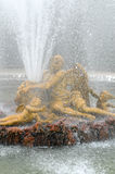 France, Saturn fountain in the Versailles Palace park Stock Image