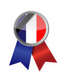 france seal and black ribbon illustration Stock Photos